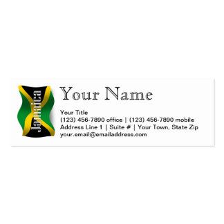 Jamaica Waving Flag Pack Of Skinny Business Cards