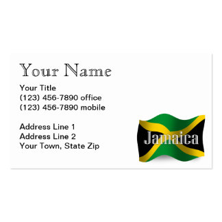 Jamaica Waving Flag Pack Of Standard Business Cards