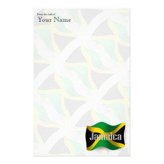 Jamaica Waving Flag Personalised Stationery