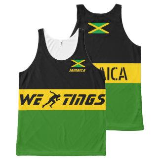 Jamaica we run tings All-Over print tank top