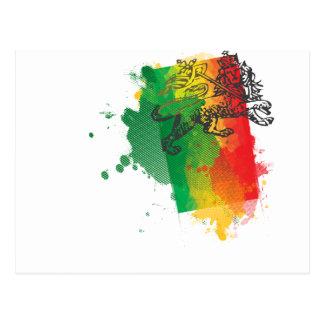 Jamaica Zion Lion Postcard