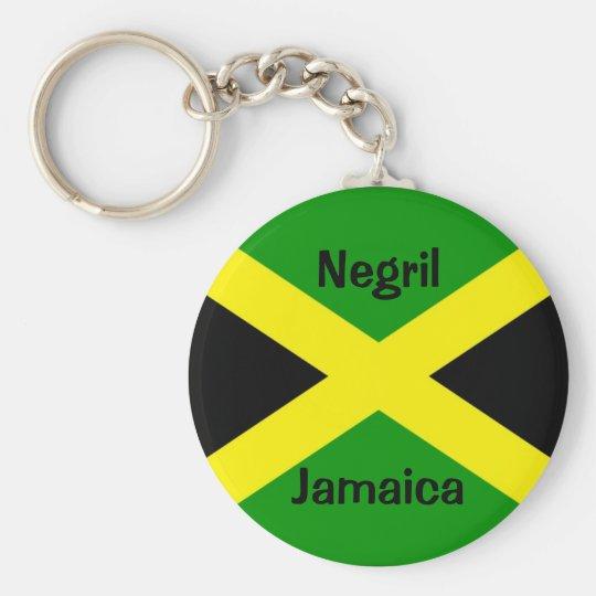 JamaicaFlag, Negril, Jamaica Key Ring
