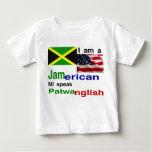jamaican american baby shirts