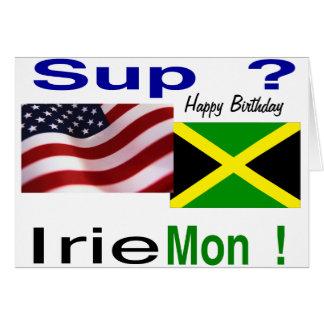 Jamaican american birthday greeting card