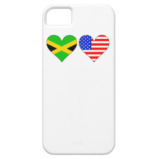 Jamaican American Hearts iPhone 5 Case