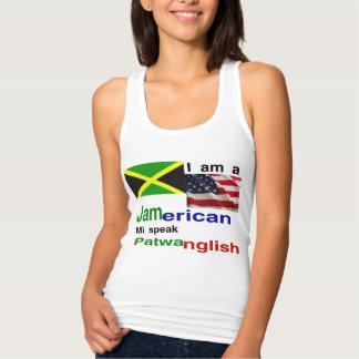 jamaican american jersey racerback tank top