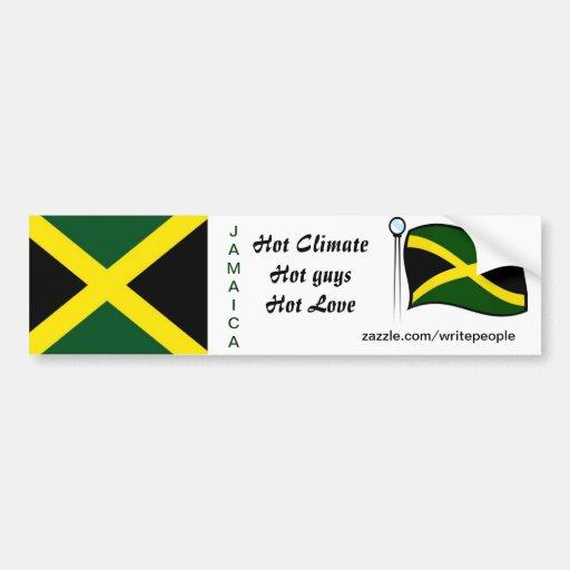Jamaican  bumper stickers-hot guys bumper sticker