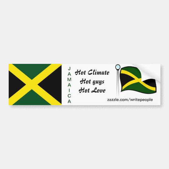 Jamaican  bumper stickers-hot guys bumper sticker