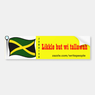 Jamaican  bumper stickers-likkle but wi tallawah bumper sticker
