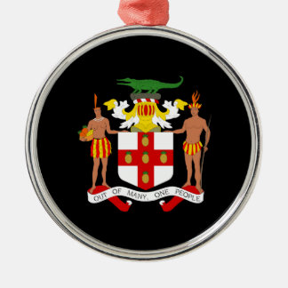 Jamaican coat of arms christmas ornament