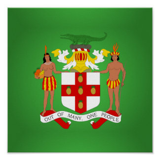 Jamaican coat of arms poster
