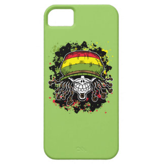 Jamaican Corn Rolls Hair Skull Paint Splashes iPhone 5 Cover