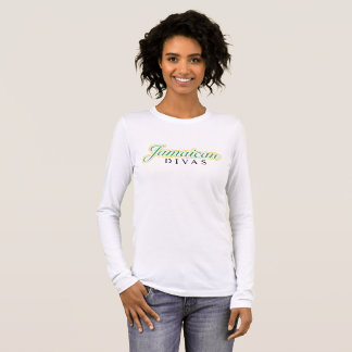 Jamaican Divas Long Sleeve Fitted T-shirt