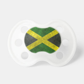 Jamaican Flag Aged Steel Effect Baby Pacifier