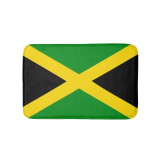 Jamaican Flag Bath Mat