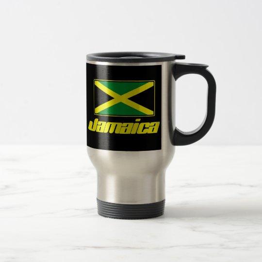 Jamaican Flag Black Travel Mug