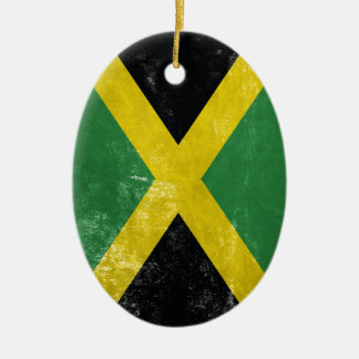 Jamaican Flag Ceramic Oval Decoration