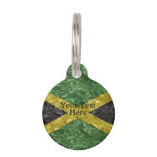 Jamaican Flag - Crinkled Pet ID Tag