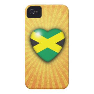 Jamaican Flag Heart iPhone 4 case