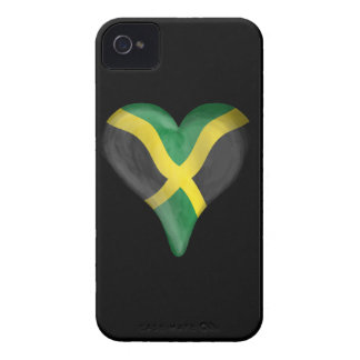 Jamaican Flag In A Heart iPhone 4 Case