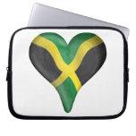 Jamaican Flag In A Heart Computer Sleeve