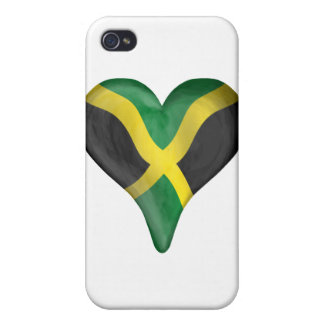 Jamaican Flag In A Heart iPhone 4/4S Cover