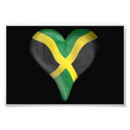 Jamaican Flag In A Heart Photo Print