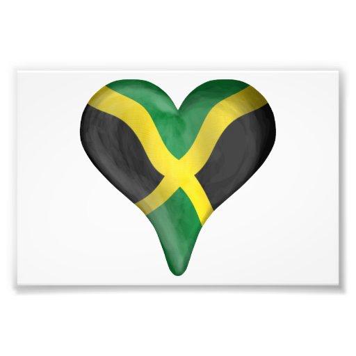 Jamaican Flag In A Heart Art Photo
