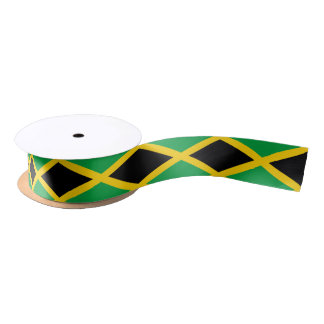 Jamaican flag ribbon satin ribbon