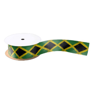 Jamaican Flag Satin Ribbon