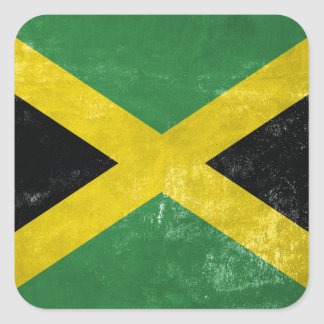 Jamaican Flag Square Sticker