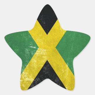 Jamaican Flag Star Sticker