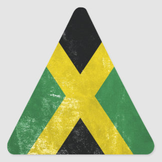Jamaican Flag Triangle Sticker