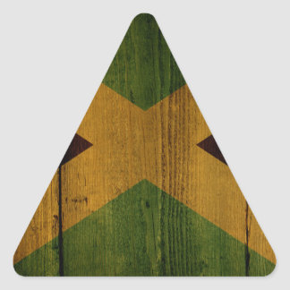 Jamaican flag. triangle sticker