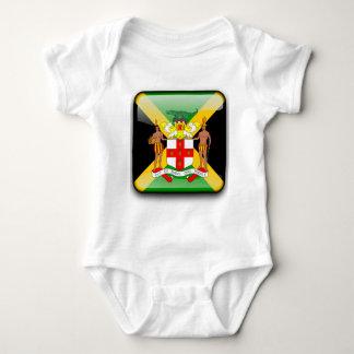 Jamaican glossy flag baby bodysuit