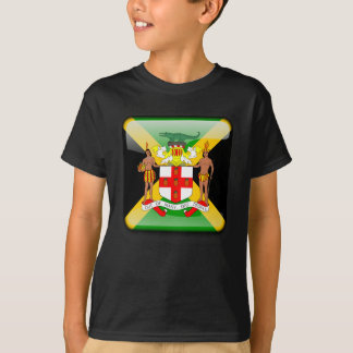 Jamaican glossy flag T-Shirt
