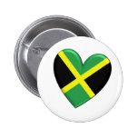 Jamaican Heart Flag Button