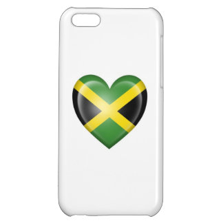 Jamaican Heart Flag on White Cover For iPhone 5C