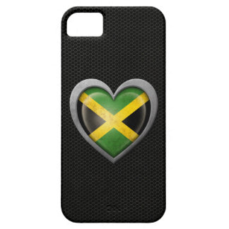 Jamaican Heart Flag Steel Mesh Effect iPhone 5 Cover