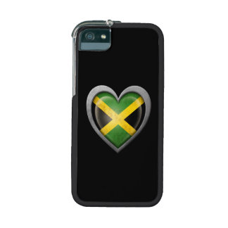 Jamaican Heart Flag with Metal Effect iPhone 5/5S Covers