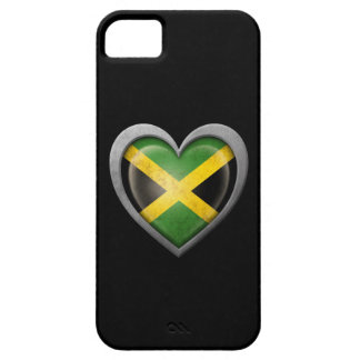 Jamaican Heart Flag with Metal Effect iPhone 5 Cases