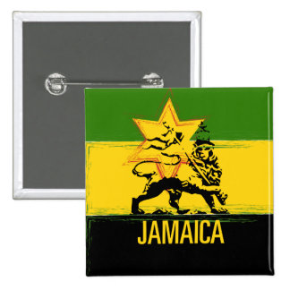 Jamaican Lion of Judah Button