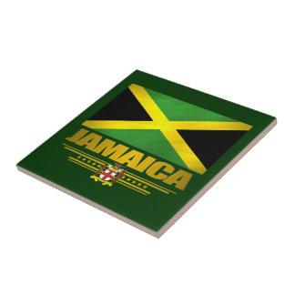 Jamaican Pride Ceramic Tile/Coaster Small Square Tile