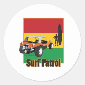 Jamaican Rasta Surfpatrol Buggy Classic Round Sticker