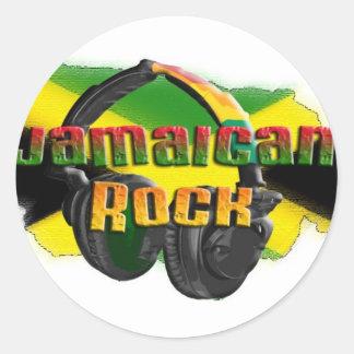 Jamaican Rock Round Sticker