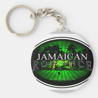 JAMAICAN ROMANCE BASIC ROUND BUTTON KEY RING