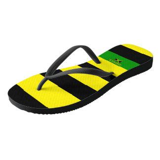 Jamaican Samuels Striped Flip Flops