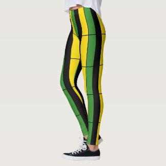 Jamaican Striped Leggings