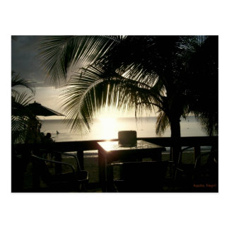 Jamaican Sunset in Negril Postcard