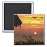Jamaican Sunset Magnet - Customised